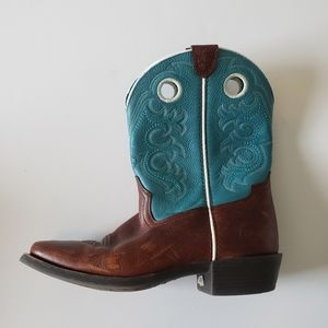 Ariat kids embroidered square toe cowboy boots